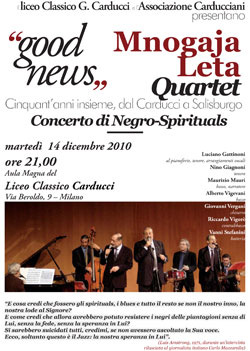 Good news Mnogaja Leta Quartet